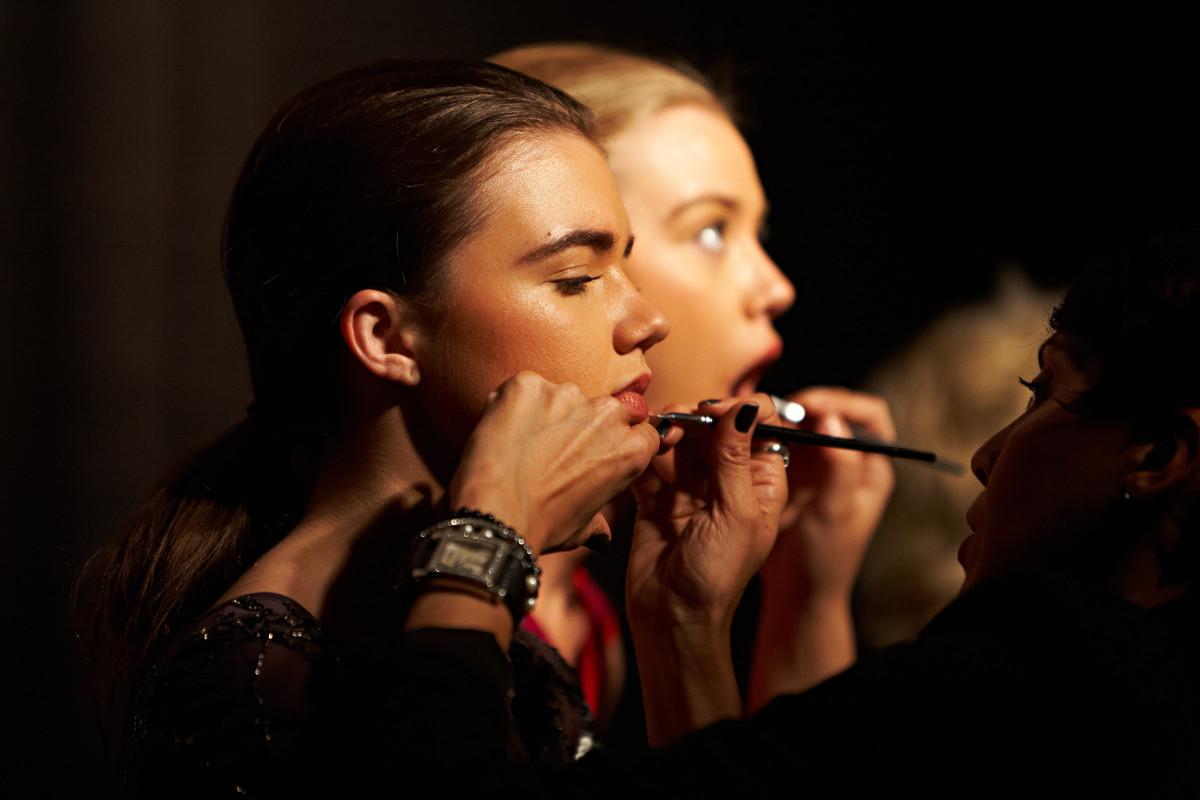 make-up artist at Miami Fashion week