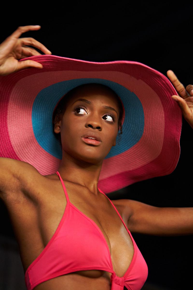 model at Miami Fashion week