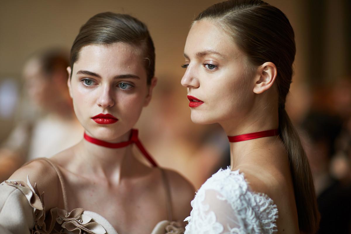 backstage Lan Yu Haute Couture Paris Fashion week