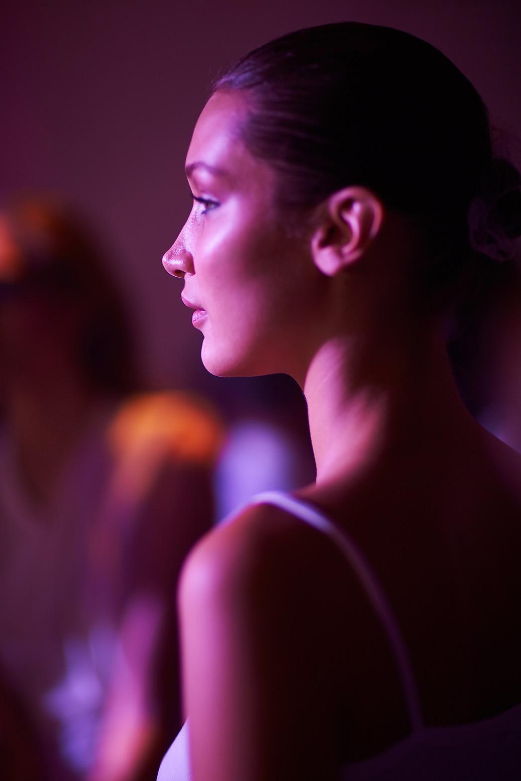 Bella Hadid. Alexandre Vauthier backstage Haute Couture Paris