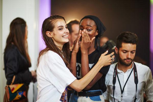 Alexandre Vauthier backstage Haute Couture Paris