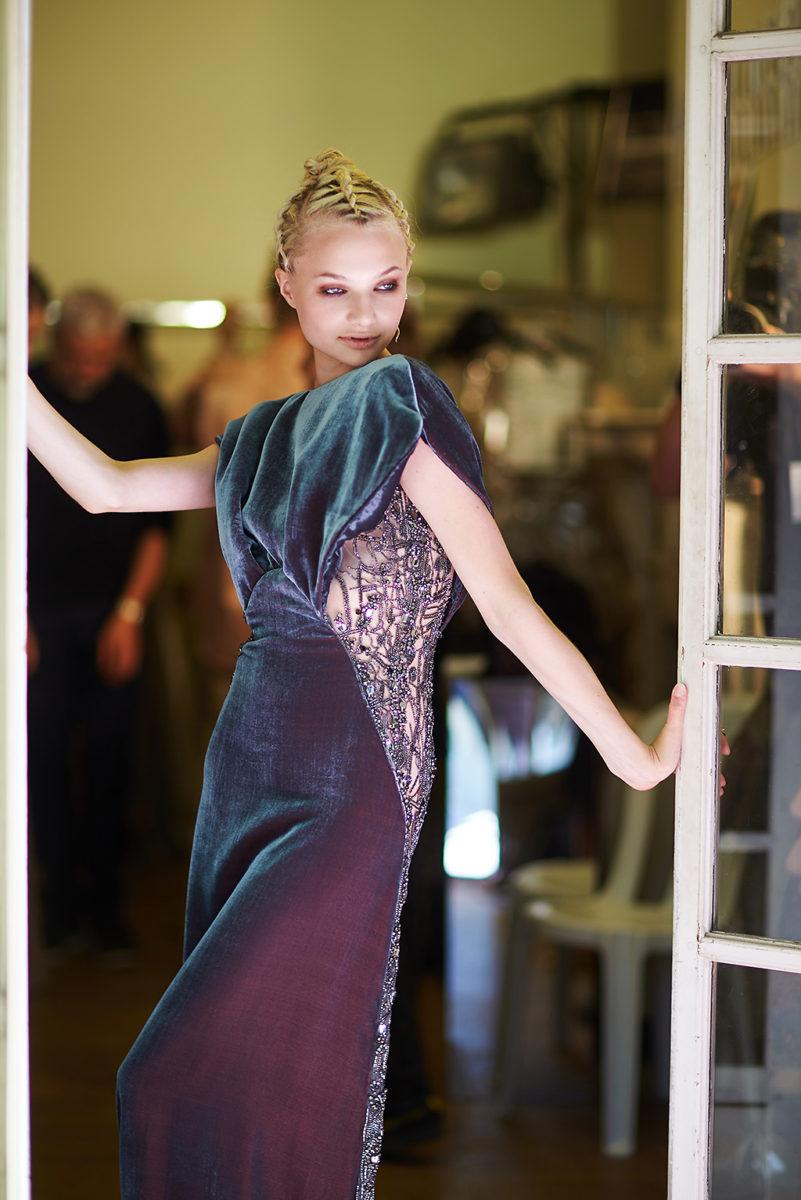 Backstage Antonio Grimaldi Haute Couture Paris