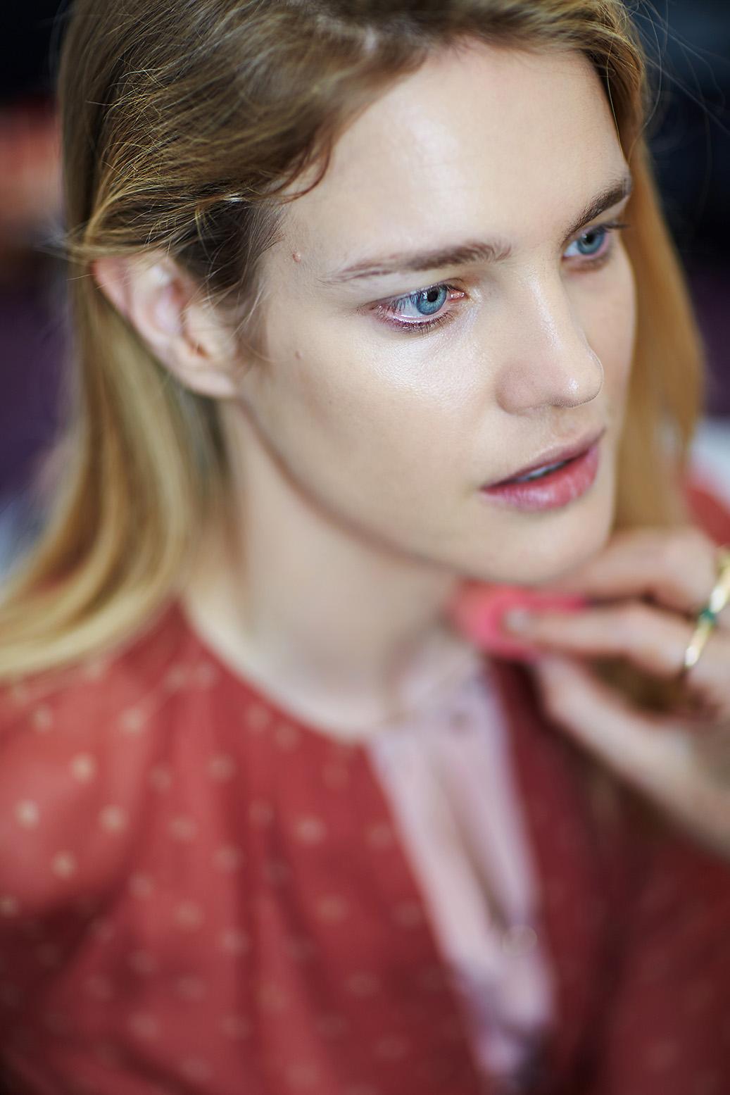 Ulyana Sergeenko backstage Haute Couture Paris