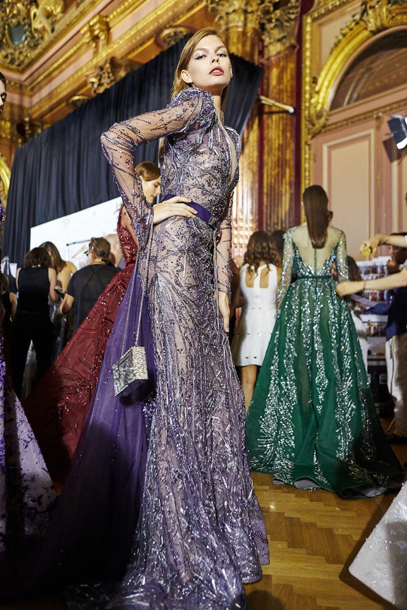 Backstage Ziad Nakad Haute Couture Paris