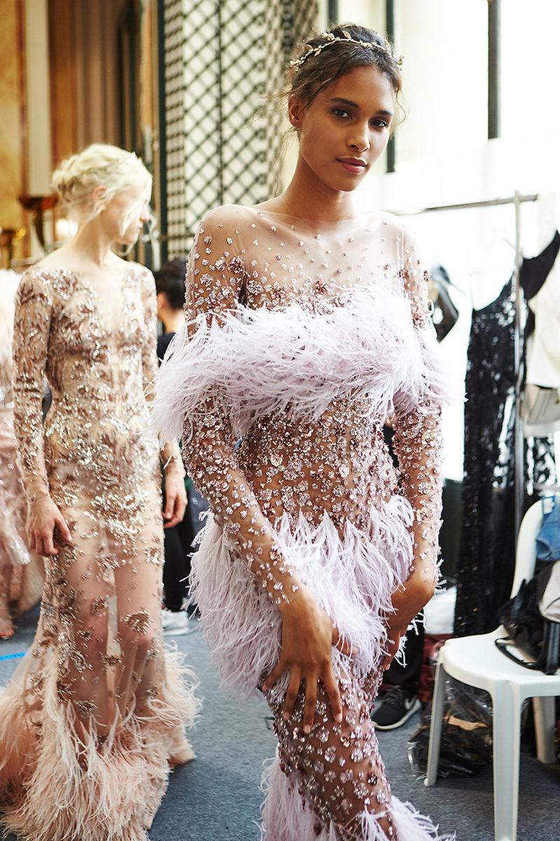 Cindy Bruna. Zuhair Murad show. Haute Couture. Paris