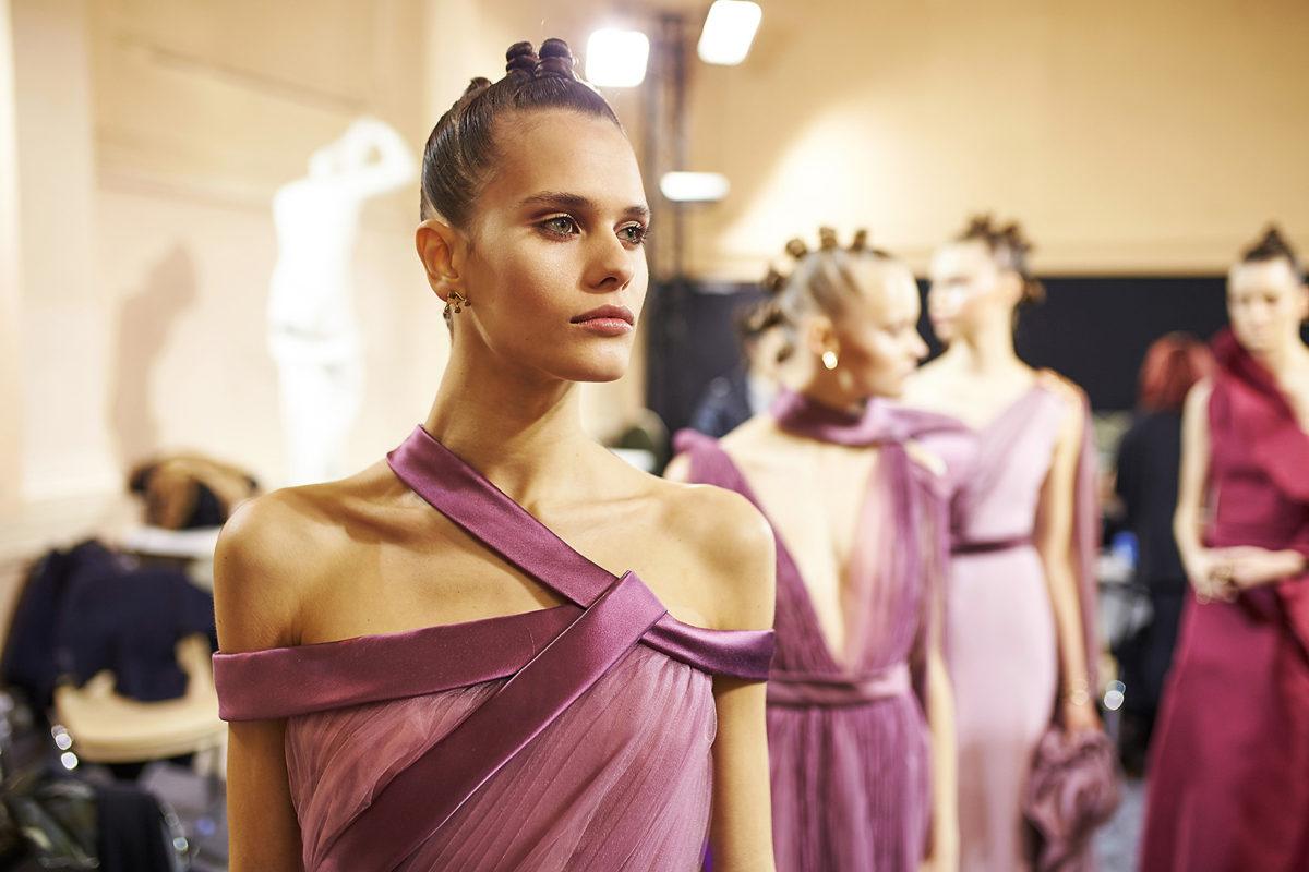 Backstage Antonio Grimaldi by Alexander Kozhin. Haute Couture SS2018