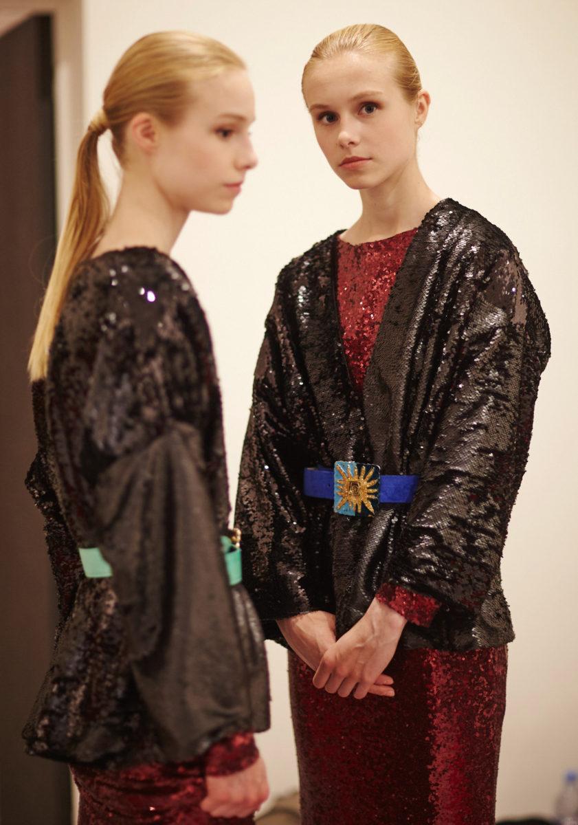 Backstage Anggy Haif. Haute Couture Paris Fashion week