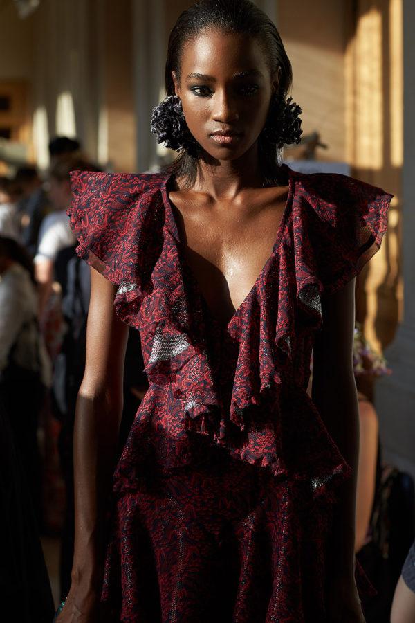 Backstage Yumi Katsura. Haute Couture Paris Fashion week. Fall Winter 2018-2019