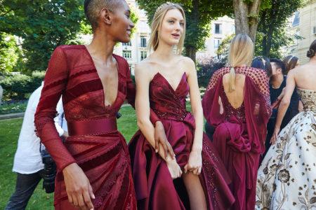 Backstage Zuhair Murad. Haute Couture Paris Fashion week. Fall Winter 2018-2019