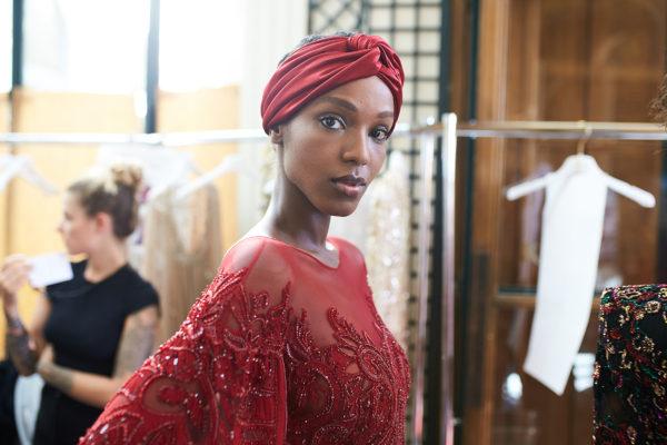 Zuhair Murad designer during Fashion week in Paris. Kozin Alexander backstage photographer