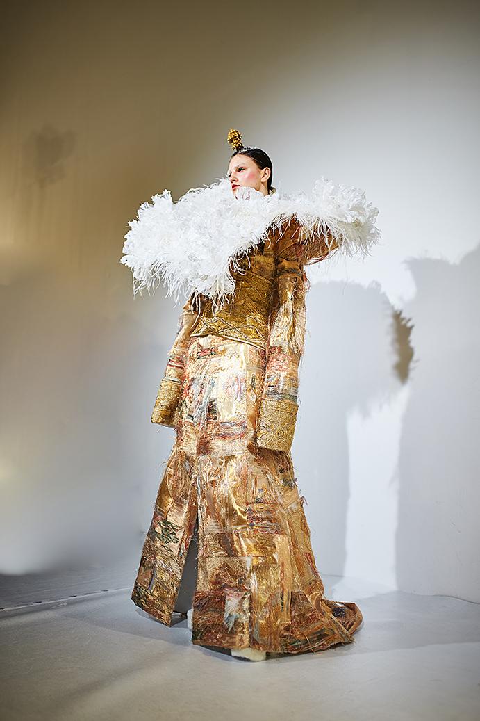 Guo Pei Haute Couture. Backstage photo by Alex Kozhin