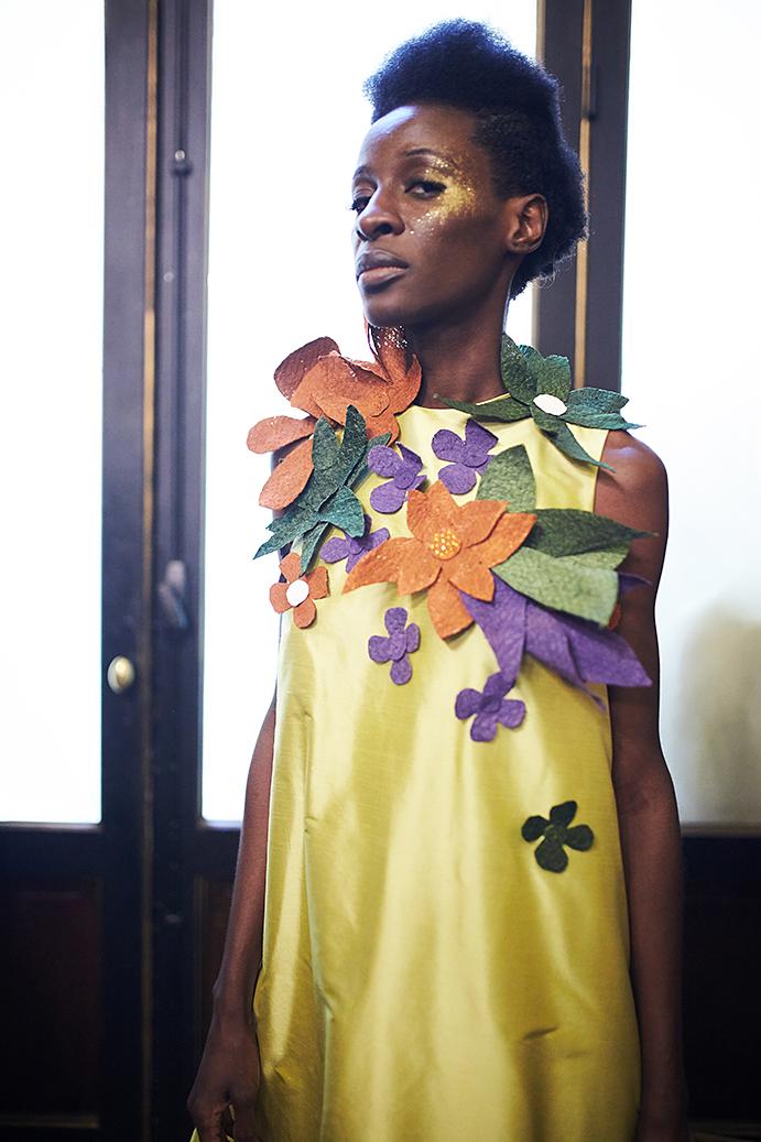 Imane Ayissi backstage photo by Alex Kozhin. Haute Couture Paris Fashin week SS 2020