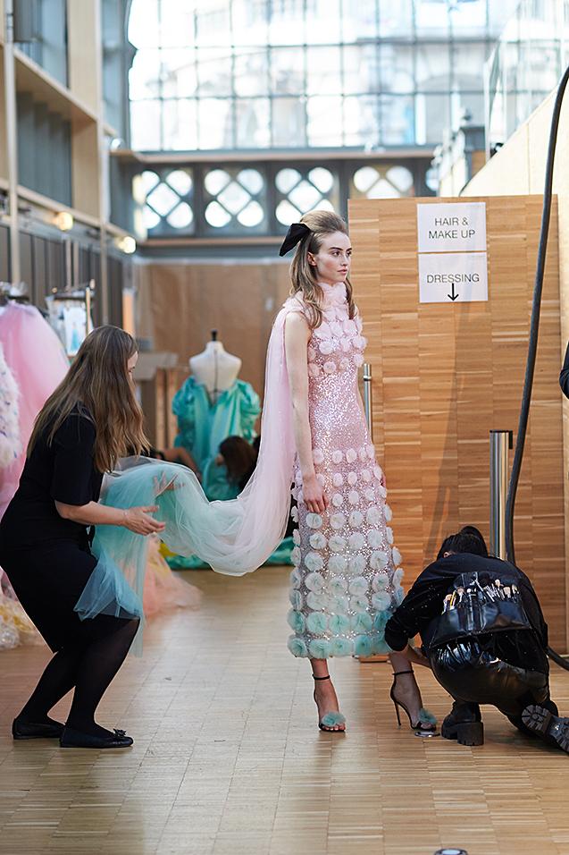 Ralph&Russo backstage photo by Alex Kozhin. Haute Couture Paris Fashion week SS 2020