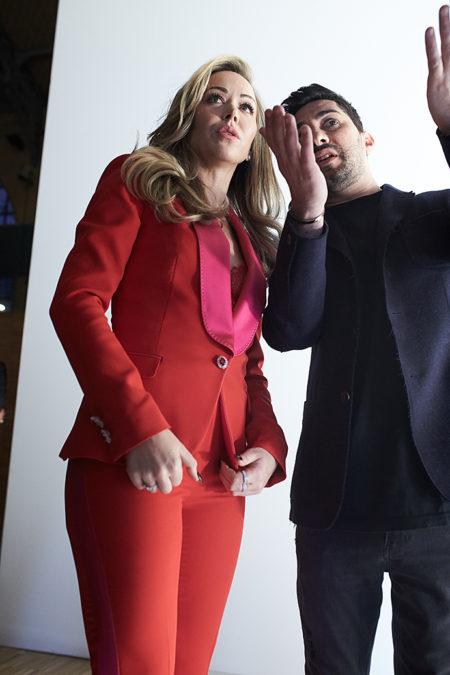 Tamara Ralph and Michael Russo backstage photo by Alex Kozhin. Haute Couture Paris Fashion week SS 2020
