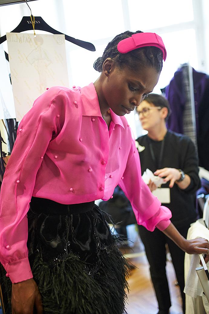 Yanina Couture backstage photo